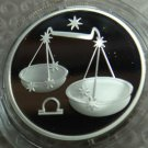 RUSSIA 2 RUBLE 2002 SILVER PROOF LIBRA IN CAPSULE RARE COIN