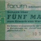 GERMANY 5 MARK DDR FORUM CHECK BANKNOTE 1979  UNC CONDITION XRARE NR