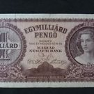 HUNGARY 1 MILLIARD PENGO BANKNOTE XF 1946 NO RESERVE
