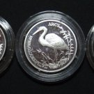 RUSSIA 3 X 1 RUBLE 1995 SILVER PROOF IN CAPSULE RED BOOK RARE COINS