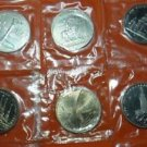 RUSSIA USSR 1 RUBLE 6 COIN SET OLIMPIC MOSCOW 1980 UNC MINT OGP