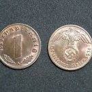 GERMANY 1 PFENNIG COIN 1938 A FROM NAZI THIRD REICH TIME RRARE