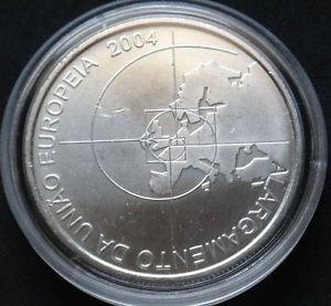 PORTUGAL 8 EURO SILVER COIN 2004 ALARGAMENTO DA UNIAO EUROPEIA UNC IN CAPSULE