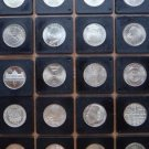 GERMANY 20 SILVER COIN LOT 5 MARKS 1966 - 1977 BU UNC RARE IN CAPSULES.