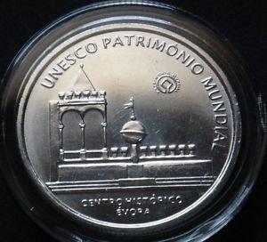 PORTUGAL 5 EURO SILVER COIN 2004 UNESCO MINT UNC IN CAPSULE