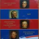 AMERICAN PRESIDENTIAL $1 P & D 2009 SET STILL WRAP IN PLASTIC MINT UNC CONDITION