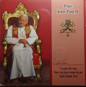 MALTA 5 COIN SET 2005 1 LIRA POPE JOHN PAUL II MINT FOLDER RARE NR