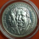 GERMANY 5 MARK UNC SILVER COIN 1967 F HUMBOLDT RARE IN CAPSULE