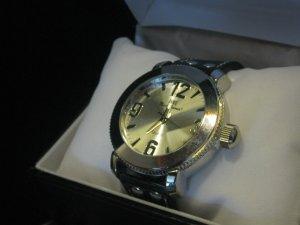 New Mark Naimer Designer Men's Watch Fine Sporty Comfort Black Silver Large # Free Ship Lower 48