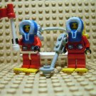 ~LEGO Arctic Mini Fig Minifigures ~ Red White & Blue Parka ~ Snow Shoes Pack Stretcher