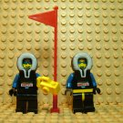 ~LEGO Arctic Minifigures Lot of 2 ~ Black Parka Camera Flag North Pole Explorer Adventure
