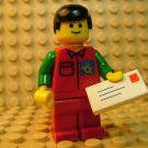 LEGO Town Minifigure ~ Mail Man ~ Classic Vintage Royal British Post Insignia