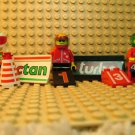 LEGO ~ Racers ~ Lot of 3 Minifigures Octan & 4WD Bison Signs Racing Race Car