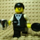 LEGO ~ Waiter ~ Minifigure Silver Mug ~ Frying Pan Town Classic Chef Cook Cafe