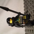 1012] LEGO Space Mars Minifigure~Astronaut~Breathing Tank Mask Tube Spear Black