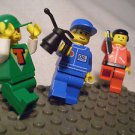 1014] LEGO Town City Minifigure Lot ~ Pit Crew~ Red Zipper ~Green T
