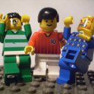 1010] LEGO Minifigure ~ Three Soccer Players ~ Sports City Town