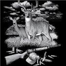 DEER NEW BLACK T-SHIRT