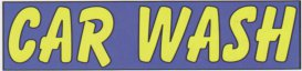 10ft CAR WASH LARGE BANNER SIGN