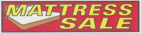 10ft MATTRESS SALE LARGE BANNER SIGN
