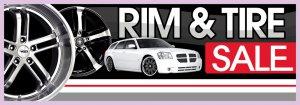 8ft RIMS & TIRE SALE BANNER SIGN