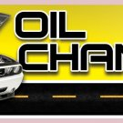 8ft OIL CHANGE BANNER SIGN