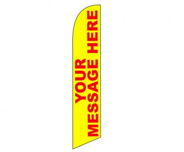 CUSTOM full sleeve swooper flag **SAME QUALITY BOTH SIDE** with pole and spike