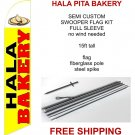 Hala Pita Bakery flag kit full sleeve swooper flag banner 15ft tall red yellow black