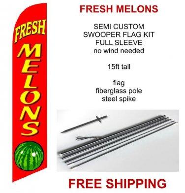 Fresh Mellons flag kit full sleeve swooper flag banner 15ft tall red yellow black