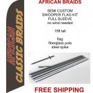 African classic braids flag kit full sleeve swooper flag banner 15ft tall red yellow black