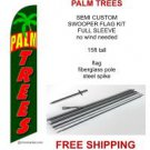 PALM TREES SALE flag kit full sleeve swooper flag banner 15ft tall restaurant