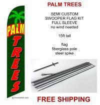 PALM TREES SALE flag kit full sleeve swooper flag banner 15ft tall restaurant