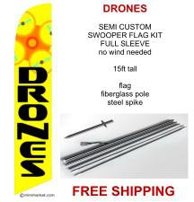 DRONES SALE flag kit full sleeve swooper flag banner 15ft tall