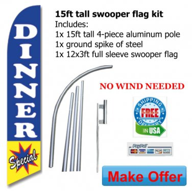 DINNER SPECIAL RESTAURANT FLAG BANNER