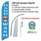 HAND WASH blue SWOOPER FLAG KIT  -