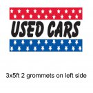 3'x5' ft Banner Advertising Business Sign Flag - USED CARS