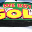 We buy gold car windshield banner sign