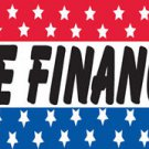 WE FINANCE  Sign Flag 3x5ft advertising  banner sign stars blue red