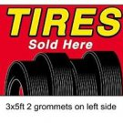 TIRES SOLD HERE Sign Flag 3x5ft advertising  banner sign