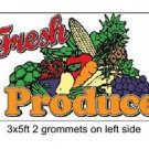 FRESH PRODUCE Sign Flag 3x5ft advertising  banner sign