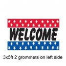 WELCOME Sign Flag 3x5ft advertising  banner sign