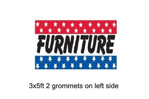 FURNITURE Sign Flag 3x5ft advertising  banner sign