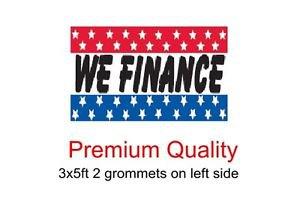 WE FINANCE Sign Flag 3x5ft advertising  banner sign