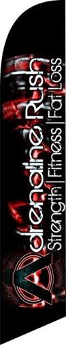 Adrenaline Rush Fitness LARGE custom swooper flag