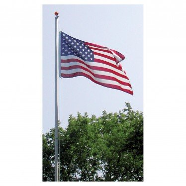 25 ft tall sectional aluminum flag pole with free US flag