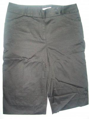 Van Heusen Black Dress Shorts sz 4 stretch