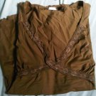 max loft 2x oversize plus shirt stretch lace brown CLOTHES CLOTHING WOMEN&#39;S GIRL&#39;S ACCESSORY