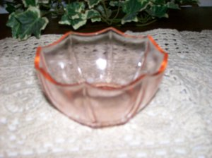 Panel Glass Vintage  ware  Pink