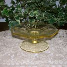 Vintage Depression Glass  Great for High Tea  Yellow