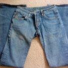 JUNIORS BEBE JEANS SIZE 26W EUC MEDIUM WASH BLUE